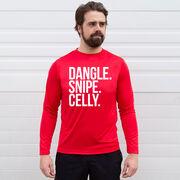 Hockey Long Sleeve Performance Tee - Dangle Snipe Celly Words