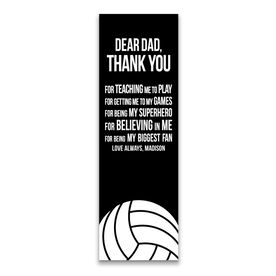"""Volleyball 12.5"""" X 4"""" Removable Wall Tile - Dear Dad (Vertical)"""