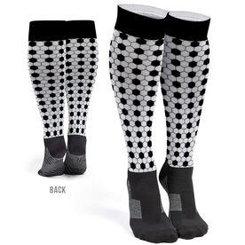 Soccer Printed Knee-High Socks - Pattern