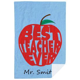 Personalized Premium Blanket -  Best Teacher Ever Apple