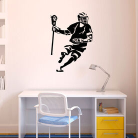 Guys Lacrosse Removable ChalkTalkGraphix Wall Decal - Dodging Silhouette