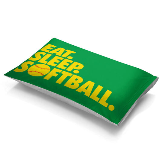 Softball Pillowcase - Eat Sleep Softball
