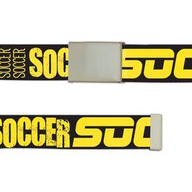 Soccer Lifestyle Belt Word Belt