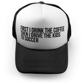 Soccer Trucker Hat - Then I Drive The Kids To Soccer