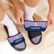 Gymnastics Repwell® Slide Sandals - Team Name Colorblock