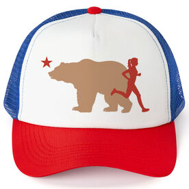 Running Trucker Hat - California Flag Female Runner