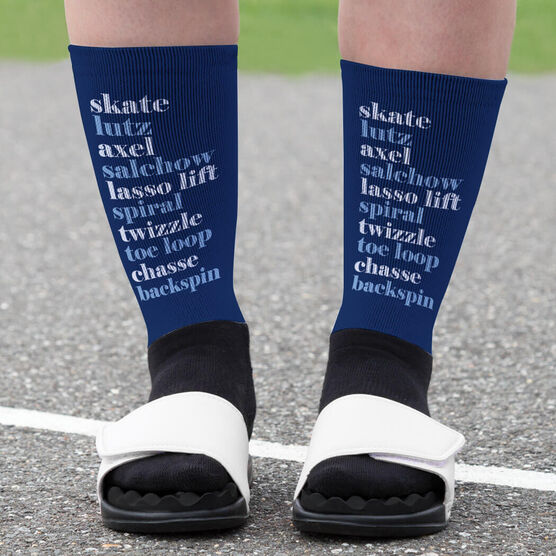 Figure Skating Printed Mid-Calf Socks - Skate Mantra