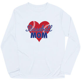 Baseball Long Sleeve Performance Tee - Baseball Mom