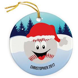 Baseball Porcelain Ornament Merry Christmas Mr. Baseball