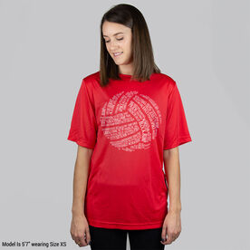 Volleyball Short Sleeve Performance Tee - Volleyball Words