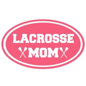 Lacrosse Mom Oval Vinyl Decal