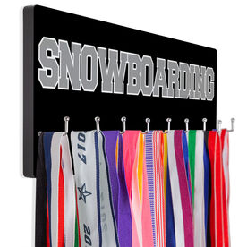 Snowboarding Hooked on Medals Hanger - Word