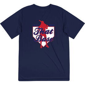 Softball Short Sleeve Performance Tee - I'm All About That Base