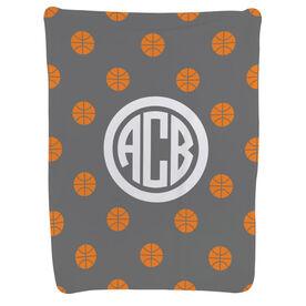 Basketball Baby Blanket - Basketball Pattern