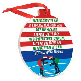 Wrestling Round Ceramic Ornament - Jingle All the Way