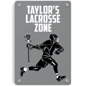 Guys Lacrosse Metal Wall Art Panel - Personalized Lacrosse Zone Guy