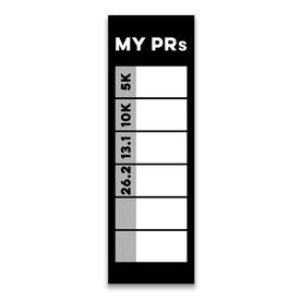 """Running 12.5"""" X 4"""" Removable Wall Tile - My PRs Dry-Erase (Vertical)"""