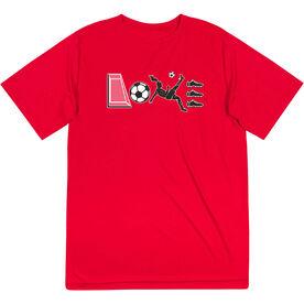 Soccer Short Sleeve Performance Tee - Soccer Love