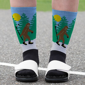 Hockey Printed Mid-Calf Socks - Bigfoot
