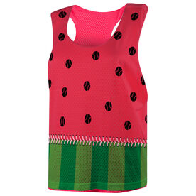 Softball Racerback Pinnie - Watermelon