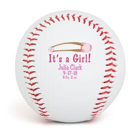 IT'S A GIRL! Custom Baseball