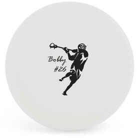 Personalized Lax Player Lacrosse Ball (White Ball)
