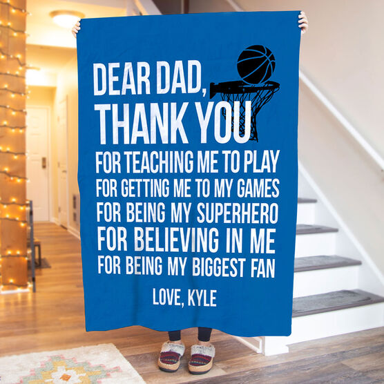 Basketball Premium Blanket - Dear Dad