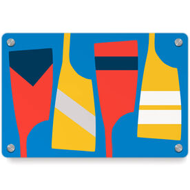 Crew Metal Wall Art Panel - Oars Colors
