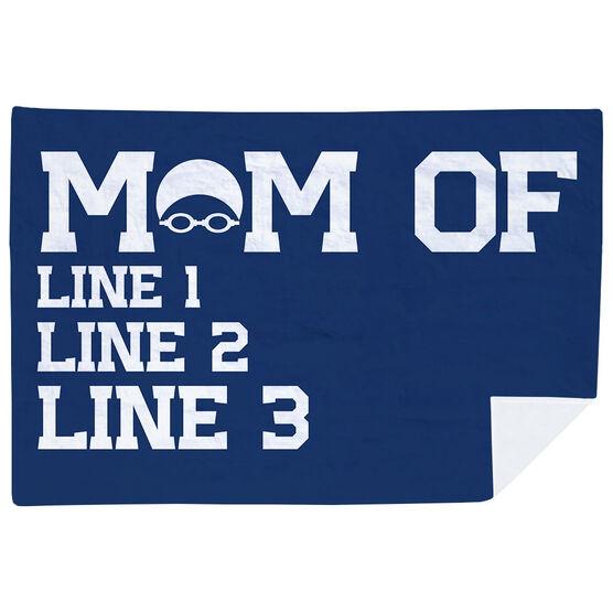 Swimming Premium Blanket - Personalized Swim Mom