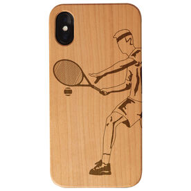Tennis Engraved Wood IPhone® Case - Tennis Player Male