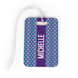 Personalized Bag/Luggage Tag - Personalized Geometric Diamonds
