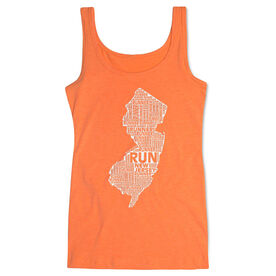 Women's Athletic Tank Top New Jersey State Runner