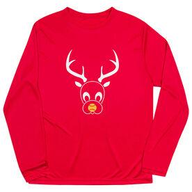 Softball Long Sleeve Performance Tee - Reindeer