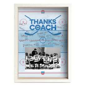 Hockey Premier Wooden Frame - Thanks Coach