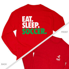 Soccer Tshirt Long Sleeve - Eat. Sleep. Soccer (Logo Collection)