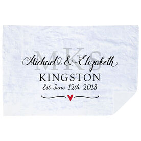 Personalized Premium Blanket - Monogram Wedding Anniversary