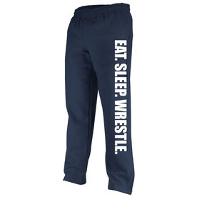 Wrestling Fleece Sweatpants Eat Sleep Wrestle