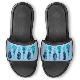 Girls Lacrosse Repwell® Slide Sandals - Pineapples