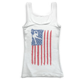Figure Skating Vintage Fitted Tank Top - American Flag