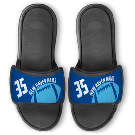 Football Repwell™ Slide Sandals - Number and Personalized Ball