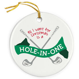 Golf Porcelain Ornament Hole in One