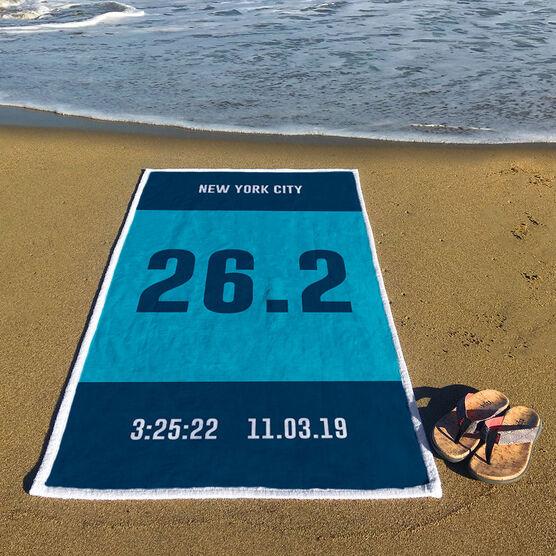 Running Premium Beach Towel - Custom Bib