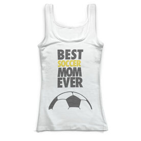 Soccer Vintage Fitted Tank Top - Best Mom Ever