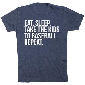 Baseball Short Sleeve T-Shirt - Eat Sleep Take The Kids To Baseball