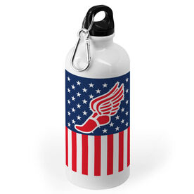 Track and Field 20 oz. Stainless Steel Water Bottle - American Winged Foot