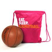 Basketball Sport Pack Cinch Sack Eat. Sleep. Basketball.
