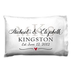 Personalized Pillowcase - Monogram Wedding Anniversary
