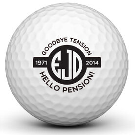 Retirement Monogram Golf Ball
