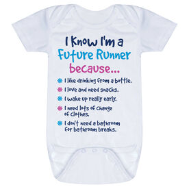 Running Baby One-Piece - I Know I'm a Future Runner Because...