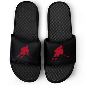 Hockey Black Slide Sandals - Hockey Rink Turn